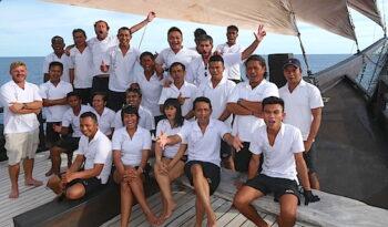 gulet yacht crew on board
