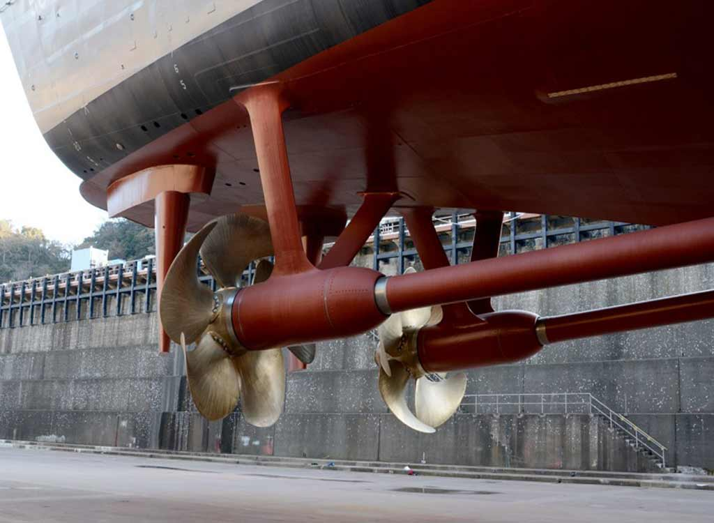 yacht propeller and shaft